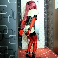 CGmask doll Latex Kigurumi masturbation 胶衣震动/10分钟/3影视币